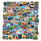 National Park Sticker Pack Set (100 pcs)   Adventure Nature Outdoors Hiking Camping Skiing Travel Stickers   Cool Suitcase Stickers Decals for Car Bumper Luggage, Laptop, Water Bottle, Phone Case