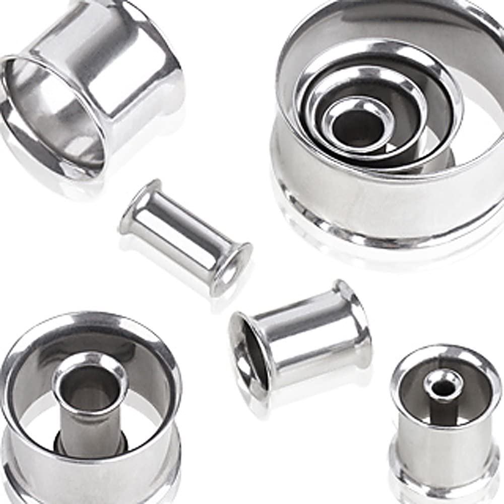 316L Surgical Steel Double Flared Tunnel Plug - 2