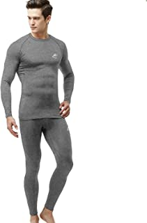 MEETWEE Men's Thermal Underwear Set Sports Long Johns Base Layer Compression Gear for Workout