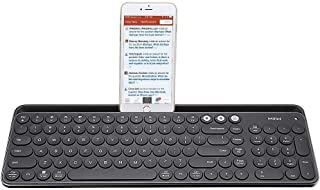 Multi Device Wireless Keyboard, Miiiw Bluetooth Dual-Mode Ultra Slim Full Size Keyboards with Numeric Keypad for Computers, Laptop, PC and Smartphones, Easy Setup, Long Battery Life