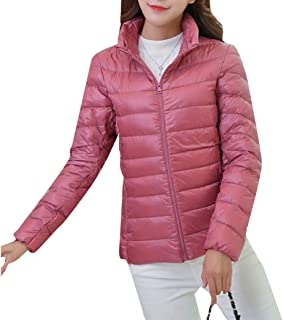neveraway Women Down All Colors Stand-up Collar Down Jacket with Hood Coat