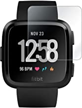 ACUTAS® Tempered Glass for Fitbit Versa (Transparent) Full Screen Coverage (Except Edges) with easy installation kit (Watch Not Included)