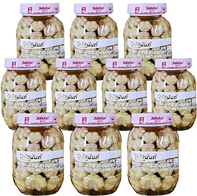 Wholesale Vanussanun Pickled Garlic Pack of 10 Bottle Jar 11.28 oz 320 gram Thai Style from Vanussanun