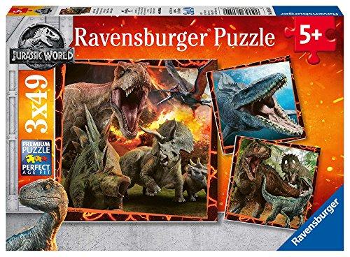 Ravensburger - Puzzle 3 x 49, Jurassic World (08054)