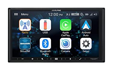 """Alpine iLX-W650 7"""" Mech-Less Receiver Compatible with Apple CarPlay and Android Auto"""