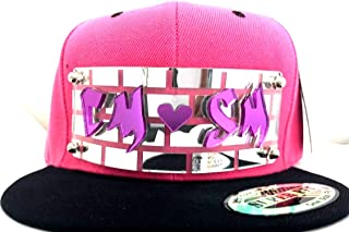Custom Snapback Hat Create Your Own Name or Word Custom Made 3 Dimension Graffiti Letter Hats #1 Head Wear, Super Fit, Comfortable Six Panel Flat Bill Snap Back, an Exclusive Creation Pink