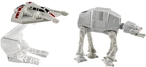 Hot Wheels Star Wars Starship 2-Pack, Snowspeeder (Orange) vs. AT-AT