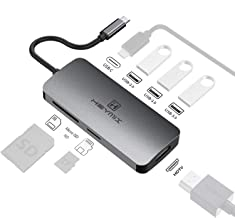 HEYMIX 7IN1 USB C Adapter Type C Hub,HMDI Port, PD Charging, USB 3.0 Ports, Micro Sd/SD Card Reader for New MacBook 12, MacBook Pro, Dell XPS 13, Google Chromebook