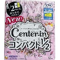 (セット販売)ソフィ CI コンパクト1/2 多い夜用 スリム ハネつき スイートフローラルの香り 12個入×4個セット
