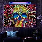 Blacklight Poster Print 24x34 inch, Reactive at UV Light, Glow at Blacklight, Art Wall Fluorescent Poster, Fluorescent Ink Print (Abstract Art, Ego, The Mind)