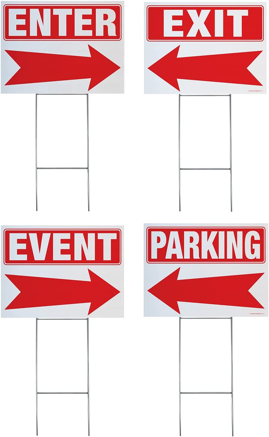 Parking Event Exit Enter Ranking TOP17 Arrow Inclu Complete Yard Las Vegas Mall Signs Kit