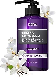 KUNDAL Honey&Macadamia Hydro-Intensive Protein Premium Nature Hair Treatment(Amber Vanilla) 500ml