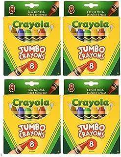 Crayola Jumbo Crayons 8ct Pack of 4 …