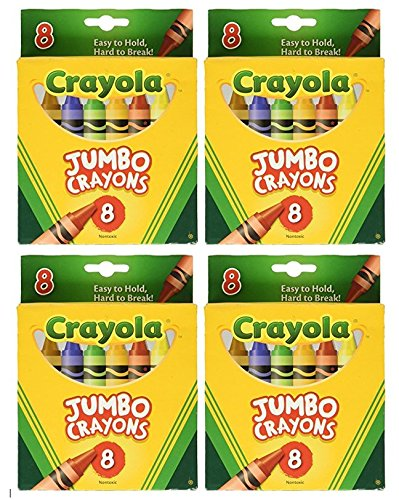 Crayola Jumbo Crayons 8ct Pack of 4 …