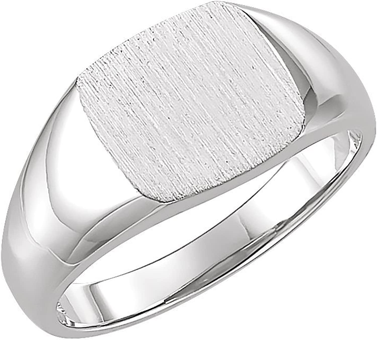Beautiful Sterling silver 925 sterling Sterlingsilver Open Back Square Signet Ring