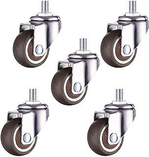 Bureaustoel Caster Wielen,360 graden draaibare stam Castor wielen, 38mm 50mm Rubber MeubelCaster, Castor voor Cot, Draaist...