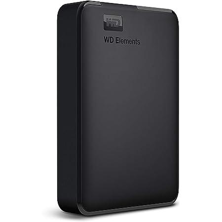 WD ポータブルHDD 4TB USB3.0 ブラック WD Elements Portable 外付けハードディスク / 2年保証 WDBU6Y0040BBK-WESN