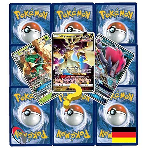 10 Pokemon wie EIN Booster inkl. Pokemon GX , Reverse & Stern Karte (zufällig ausgewählt) - Deutsch - Cardicuno