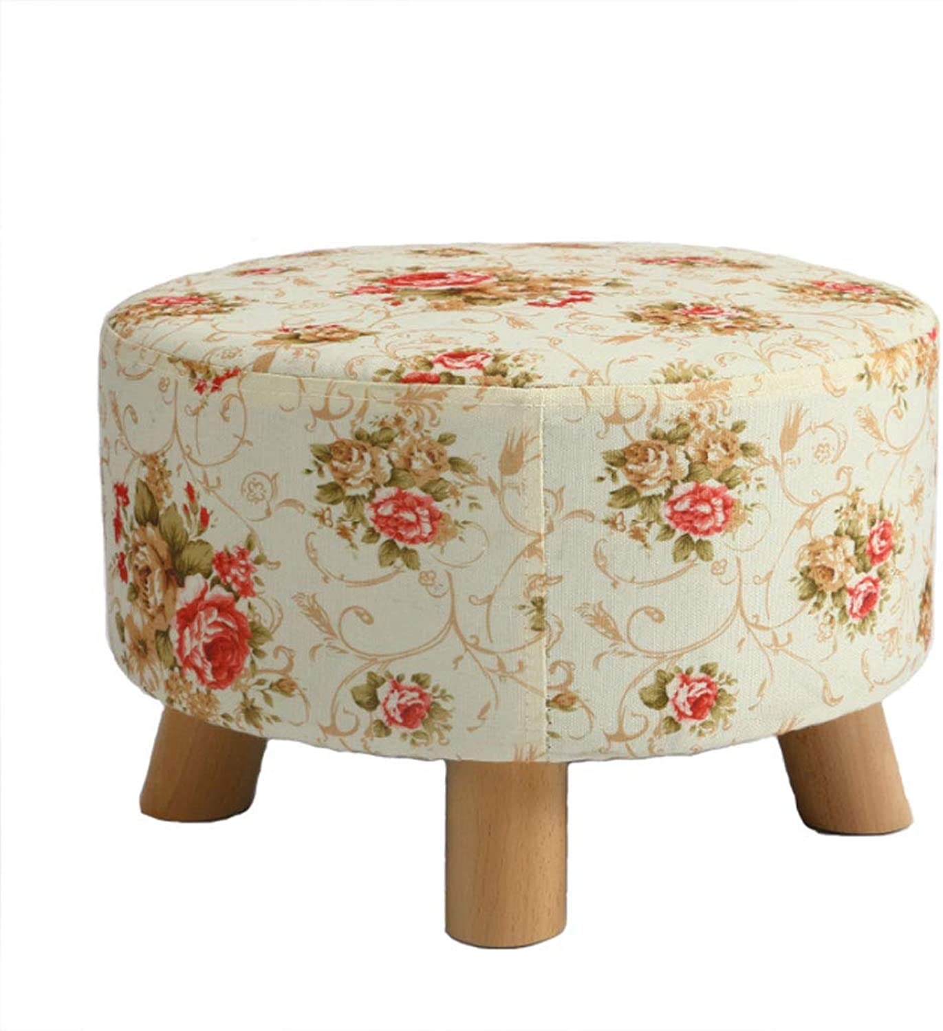 NJ stools  Household Fabric Stool Solid Wood Stool Sofa Bench For shoes Bench (color   color, Size   42x26cm)