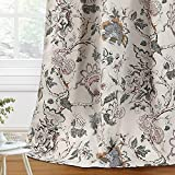 H.VERSAILTEX Blackout Curtains 84 Inch Length 2 Panels Set Floral Print Curtain Drapes for Living Room Thermal Insulated Grommet Window Curtains for Bedroom - Traditional Floral in Sage and Brown