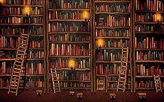 Sala de estar Dormitorio Mural 3D Mural Decorativo 3D Libro Estantería Librería Fondo Pared-Acerca d Pared Pintado Papel t...