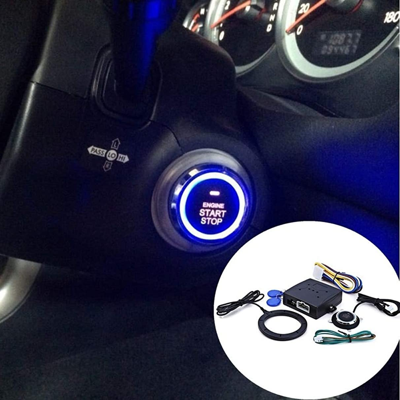Alina-Shops - 12V Car Engine Press Start Button RFID Lock Ignition Starter Keyless Entry Starts Stop for bmw e46 e90 ford focus 2 mazda jetta