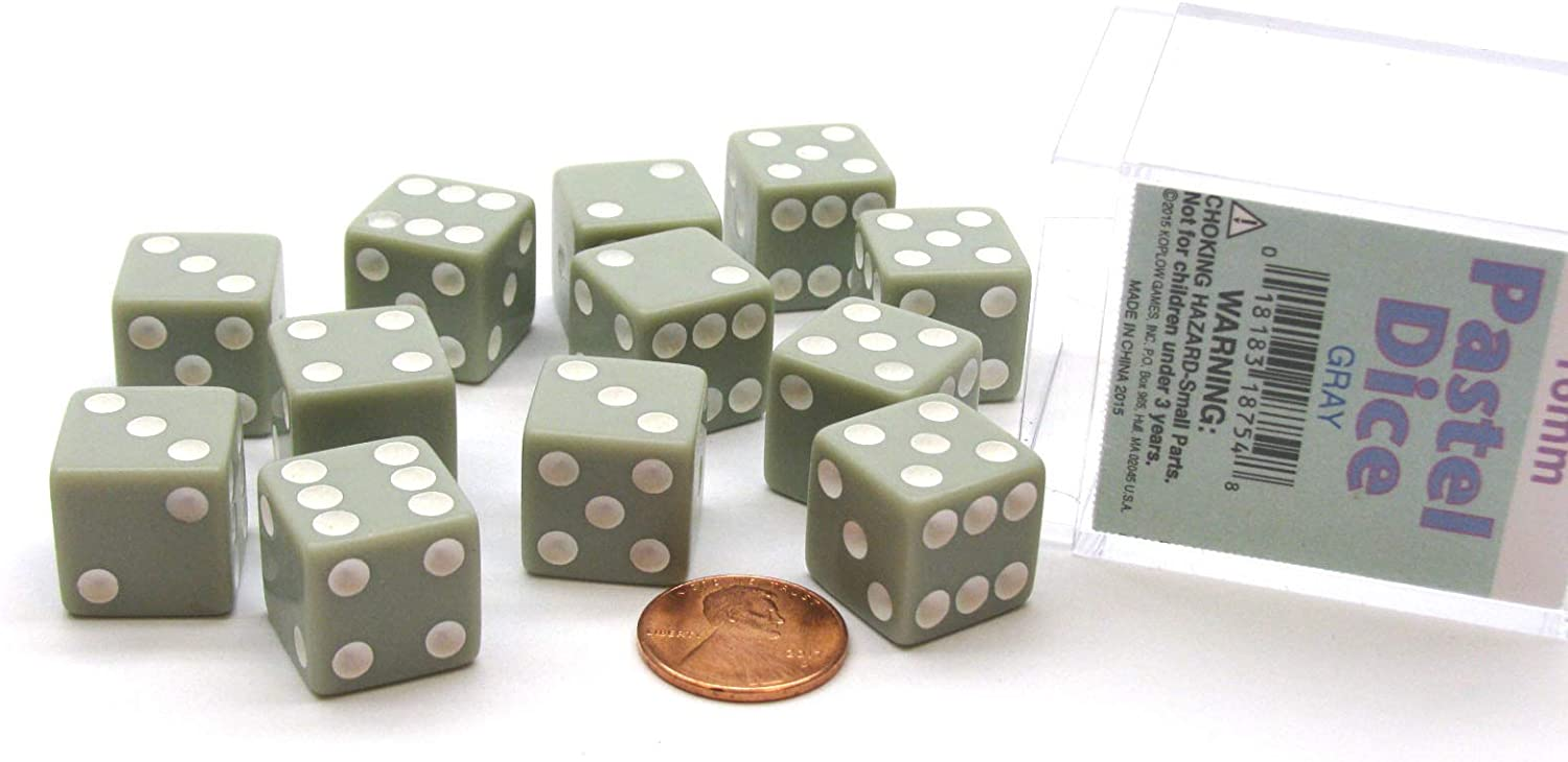 Koplow Games Pastel Grey 16mm Special price for a Recommended limited time Dice 12