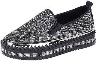 Chaussures plates à enfiler avec strass pour femme