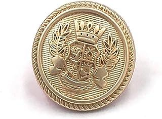 12 Pieces Golden Metal Blazer Buttons Set for Jacket