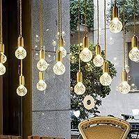 PXY 装飾ライトライトランプ現代のミニマリストゴールドシングルヘッド小さなシャンデリア廊下通路階段装飾ガラス天井ランプ9X20Cm