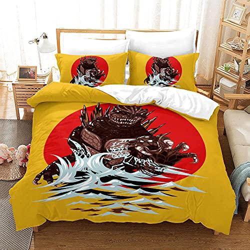 Bedclothes-Blanket Copripiumino per Culla,Biancheria da Letto a Tre Pezzi di Stampa Digitale 3D-3_200 * 225.