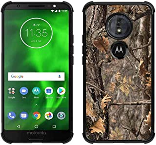 Moto G6 Play/Moto G6 Forge Brown Camo Case, ABLOOMBOX Shock Absorption Soft Bumper Slim Rubber Protective Case Cover with Reinforced Corners for Motorola G Play (6th Generation)