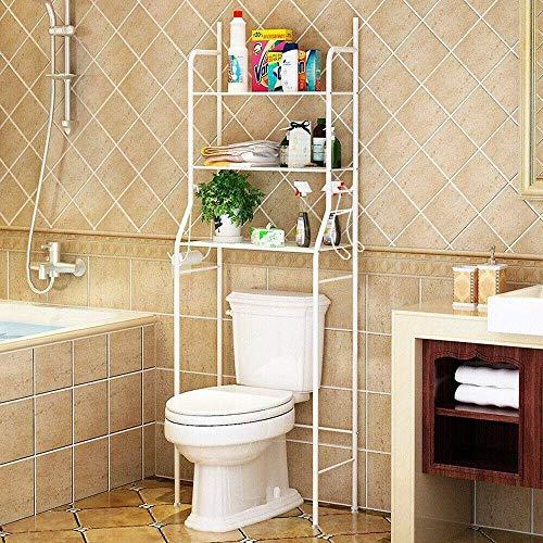 Keinode Estante de baño de 3 niveles sobre el inodoro estante de almacenamiento organizador para baño, color blanco