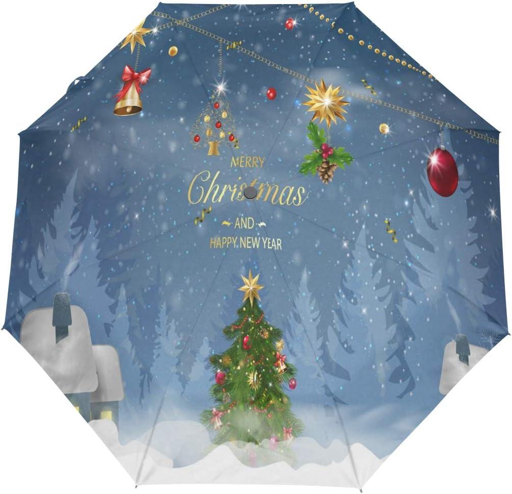 Nippon regular agency Winter Christmas Tree Snowflake Umbrella Windproof Compact Now free shipping Auto