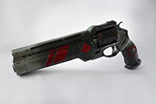 Designed By Ace of Spades Hand Cannon Prop Last Hand Ornament Free Destiny Banner, has Moving Ammo, Plastic Light and Durable. Safe, Does not Shoot