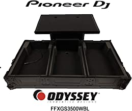 Odyssey Flight FX Heavy-Duty DJ Mixer Case LED Panel Flashing Color Effects With Corner Roller Wheels for Pioneer CDJ and DJM Mixers