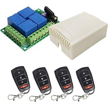 Telecomando Per Cancello Elettrico Universale Senza Fili 4 Interuttore 433 Mhz