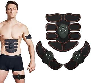 腹筋トレーナー 筋肉刺激装置 腹部調色ベルト、 USB充電式 筋肉のトナー、 ワイヤレスポータブル トレーニングギア、 完璧な ホーム 運動器具 にとって 男女 - 6つのモードと10のレベルの強度