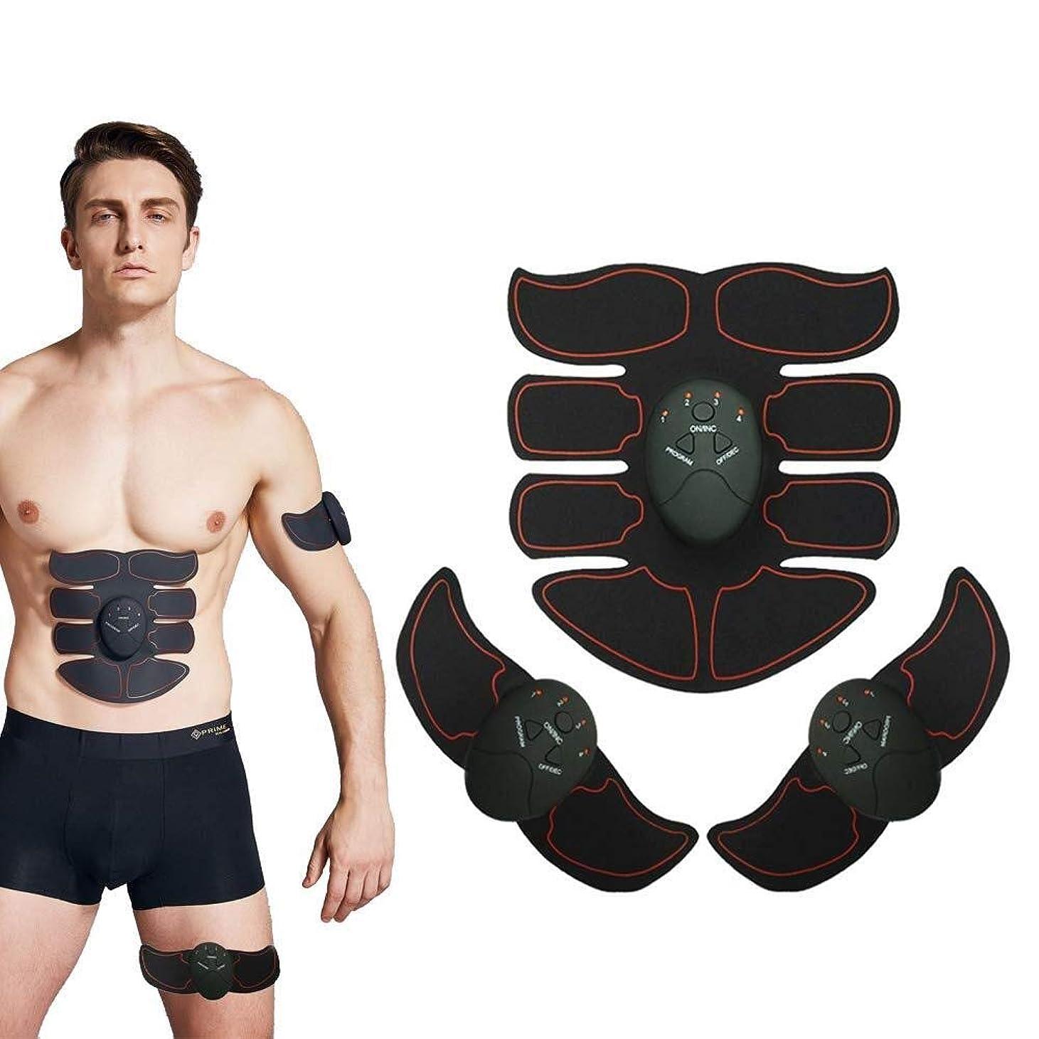 レイドル徹底的に腹筋トレーナー 筋肉刺激装置 腹部調色ベルト、 USB充電式 筋肉のトナー、 ワイヤレスポータブル トレーニングギア、 完璧な ホーム 運動器具 にとって 男女 - 6つのモードと10のレベルの強度