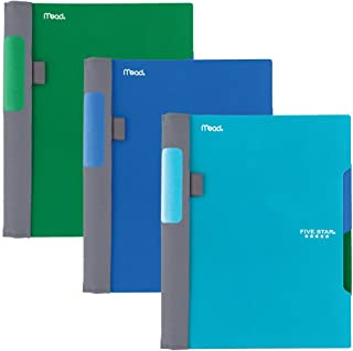 """Five Star Advance Spiral Notebooks, 2 Subject, College Ruled Paper, 100 Sheets, 9-1/2"""" x 6"""", Blue, Green, Teal, 3 Pack (38..."""