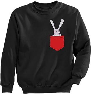 Tstars - ファニーポケットバニープレゼント キュートラビットポケットギフト かわいいラビットポケットプレゼント スイート キッズスウェットシャツ