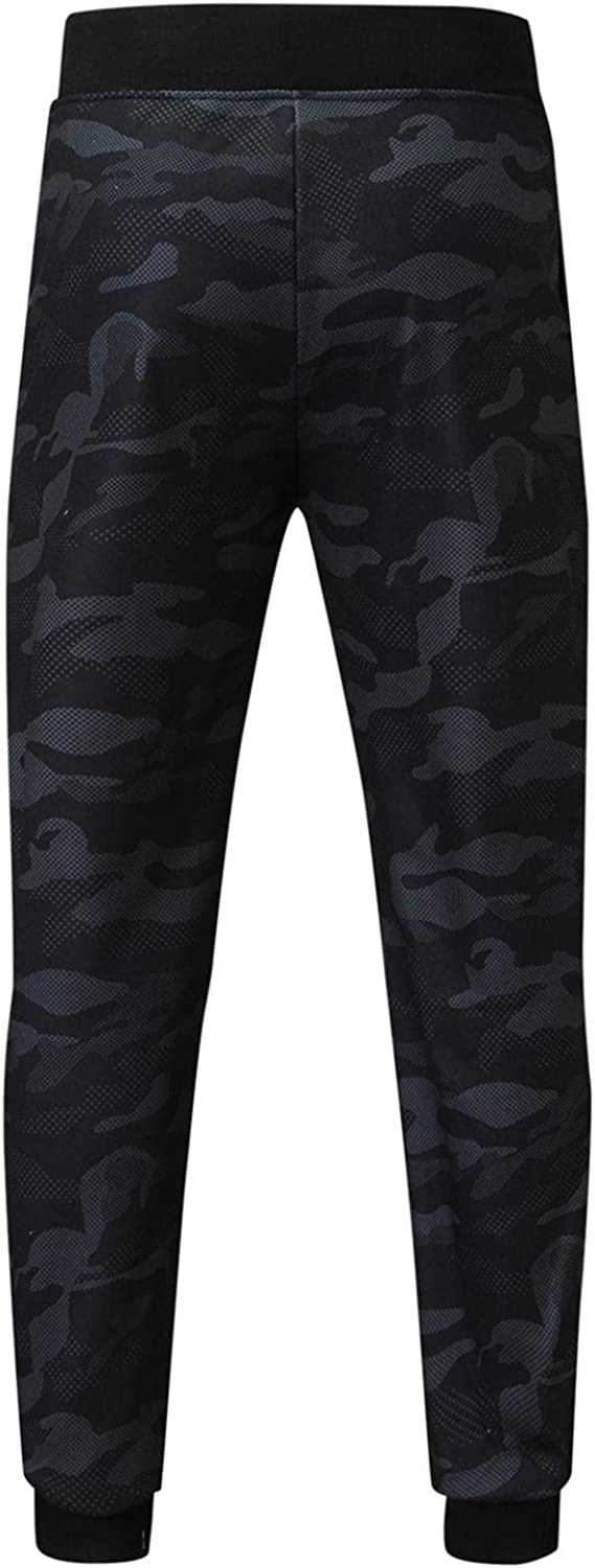Beshion Men's Jogger Sweatpants Casual Slim Fit Athletic Running Workout Pants Color Matching Camouflage Elastic Trousers