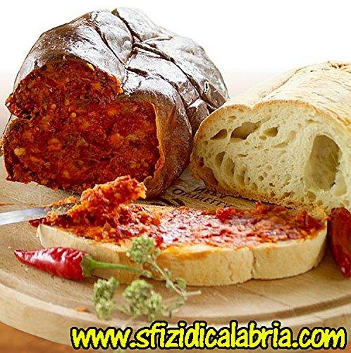 Nduja Calabrese Spalmabile mit Chili würzig Salami Kalabrische Original Salami Calabria 450gr