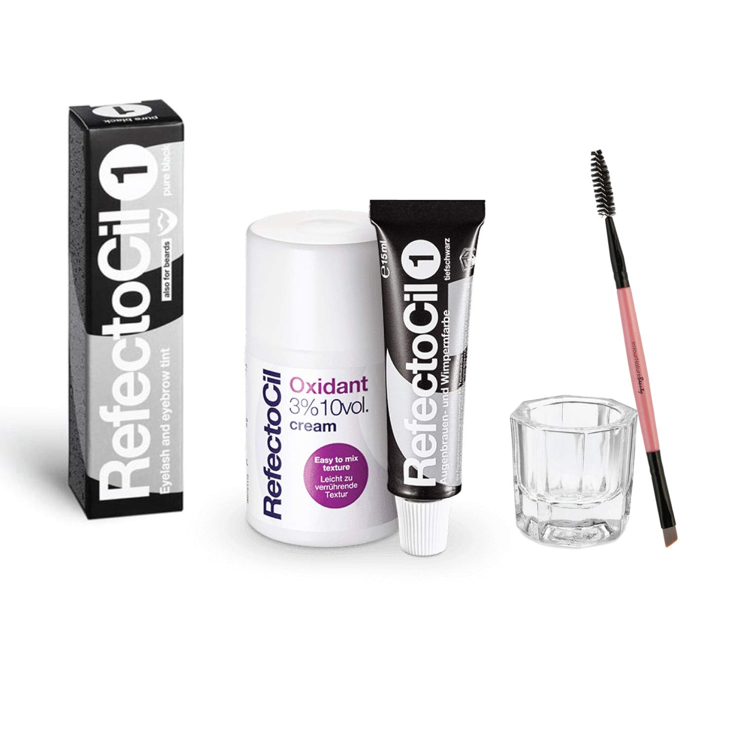 RefectoCil Ranking TOP14 Color Kit PURE BLACK 1 Includes Cream REFECTOCIL Over item handling ☆ Hai