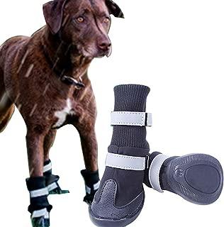 FLAdorepet Non-Slip Large Big Dog Sport Shoes Winter Waterproof Pet Dog Boots for Pitbull Golden Retriever