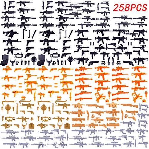 FutureShapers 258St. Set de Armas Personalizadas para los Soldados de la policía. Figuras del Equipo SWAT, Coinciden con el Lego.