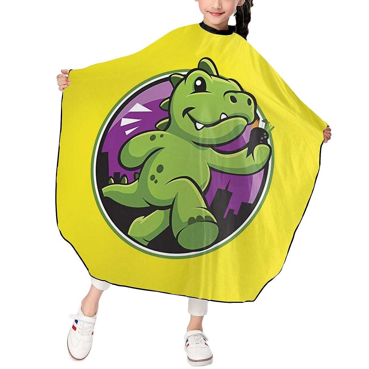アクティブパーチナシティさらにPST-LF Godzilla ゴジラ 恐竜 散髪ケープ 散髪マント ファミリー理髪 折りたたみ式 ヘアカットケープ ヘアダイケープ 自宅 サロン 防水 散髪マント 幼児用 ヘアカット 子供用ヘアカットケープ 散髪ケープ