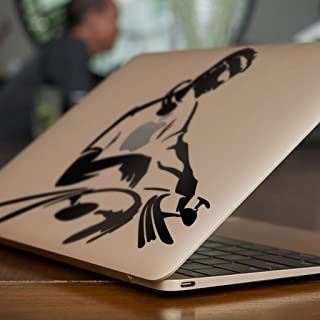 DJ MIXING Apple MacBook naklejka (28 cm, czarna)