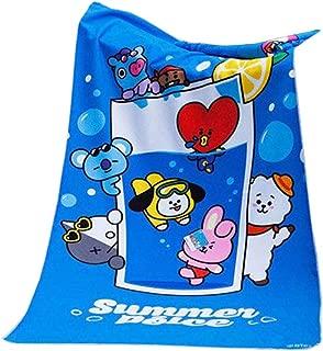 BTS Summer Dolce Beach Towel Kpop Cooky TATA Bangtan Boys Plush Cartoon Plus Large Cloak Bath Towel Outdoor Outfits