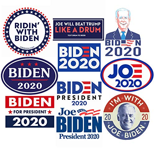 Kilmila Joe Biden for President Sticker Gifts Decals [20 Pcs-10 Different Designs,Each 2 Packs Large Size] -Joe Biden Bumper 2020 Stickers Biden Harris Sign Vinyl Sticker Election